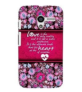 Reality Of Love 3D Hard Polycarbonate Designer Back Case Cover for Motorola Moto X XT1058 :: Motorola Moto X (1st Gen)