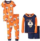 Gerber Baby-Boys Infant 4 Piece Boys Pajama Set Long and Short Sleeve Shirt
