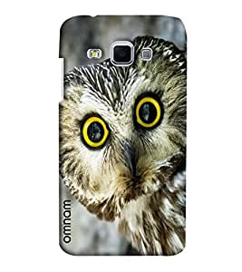 Omnam Owl Giving Closeup Printed Designer Back Cover Case For Samsung Galaxy J3