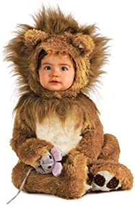 Rubie's Costume Co Unisex-baby Infant Noah Ark Lion Cub Romper, Brown/Beige, 0-6 Months