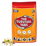 Survival Tabs 2-day Food Supply 24 Tabs Emergency Food Ration Survival MREs Meals Ready-to-eat Bugout Emergency Food Replacement for Travel Camping Boating Biking Hunting Outdoor Activities Also Disaster Preparedness for Earthquake Flood Tsunami Gluten Free and Non-GMO 25 Years Shelf Life Long Term Food Storage - Vanilla Malt Flavor