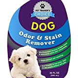Dog Odor and Stain Remover - Best Dog Urine Odor Remover and Neutralizer - Helps Prevents Re-soiling When Housebreaking - Certified Dog Trainers Most Recommended Dog and Puppy Urine Enzyme Carpet Cleaner And Odor Eliminator - Enzymes Destroy Urine Crystals