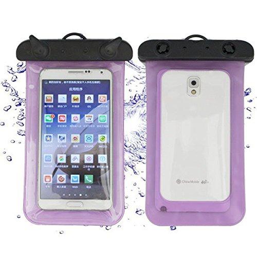 Ducomi® Aguaproof Housse étanche avec lacet compatible avec l'Iphone Samsung Nokia HTC Alcatel Sony Lg et bien d'autres aubergine