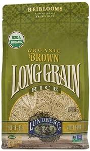 Amazon.com : Lundberg Organic Long Grain Brown Rice, 32