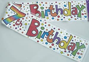 Happy 7th Birthday Banner: Amazon.co.uk: Toys & Games