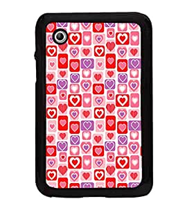 Hearts Pattern 2D Hard Polycarbonate Designer Back Case Cover for Samsung Galaxy Tab 2 :: Samsung Galaxy Tab 2 P3100