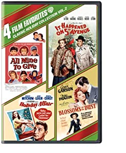 4 Film Favorites Classic Holiday Collection Vol 2 All Mine To Give It Happened On 5th Avenue Holiday Affair Blossoms In The Dust by Warner Home Video