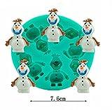 Olaf Frozen Sparkle Silicone Fondant Mold 5 Pcs Set