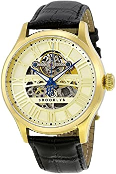 Brooklyn Bridgewater Gold Tone Dial Mens Watch