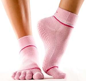 Yoga-Mad Chaussettes à orteils séparés Rose S