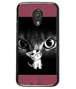 Fuson 2D Printed Cat Designer back case cover for Motorola Moto G2 - D4130
