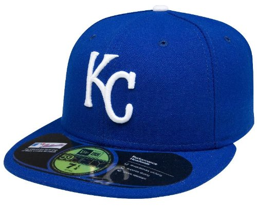 MLB Kansas City Royals Authentic On Field Game 59FIFTY Cap, 7, Blue at Amazon.com