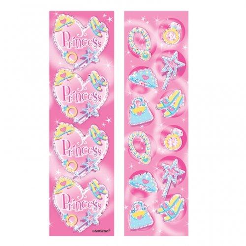 Prismatic Metallic Princess Stickers 8 Strips/Sheets
