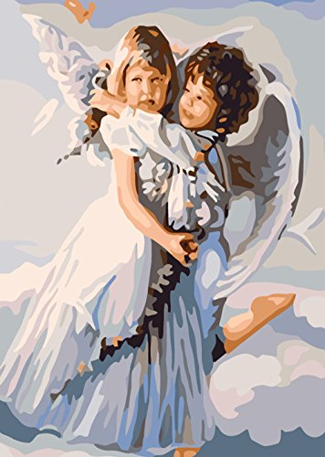 Paint By Number Kit,Angel's Embrace,16-Inch by 20-Inch