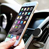 Sobetter Mobile Phone Car Mount Metal Magnetic Car Phone Holder Air Conditioning Vent Universal for Smart Phones and Mini Tablets, iPhone 5/5S 6/6S Plus Galaxy S5 S6 S7 Edge Note iPad mini Nexus Pad (Silver/Black)
