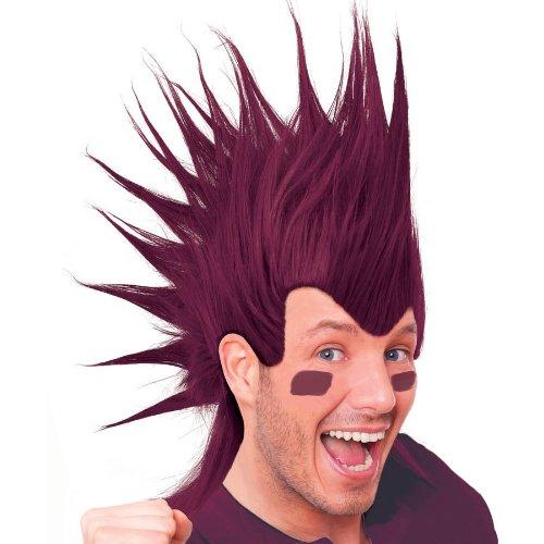 Burgundy Mohawk Wigs - 1