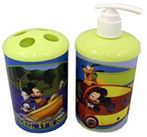 Mickey mouse friends toothbrush soap lotion bathroom set bathroom accessory - Mickey mouse bathroom accessory set ...