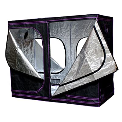"Apollo Horticulture 96""x48""x80"" Mylar Hydroponic Grow Tent for Indoor Plant Growing"
