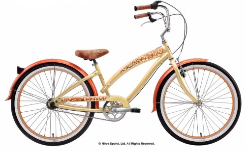 Nirve Lahaina 26in Ladies 3-Speed Cruiser Color: Cocoa Butter