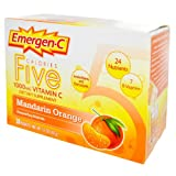 Emergen-C Vitamin C 1000 mg Five Calories, Mandarin Orange, 30 ea