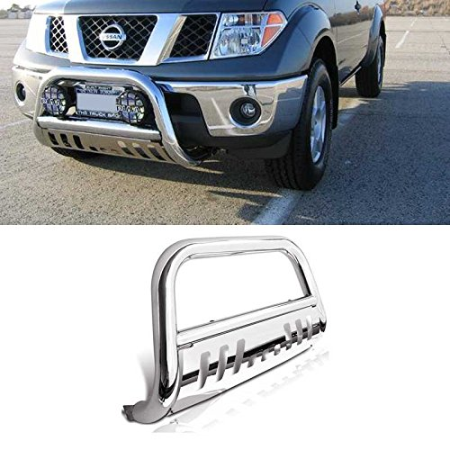 "VioGi 1pc Brand New 3"" Tube Stainless Steel Bull Bar Front Bumper Grille Guard For 05-16 Nissan Frontier Xterra 05-07 Pathfinder"