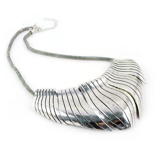 Oversized Big Alloy Pendant Necklace, Mesh Gold/silver Jewelry Necklace, Nl-1704 (A)