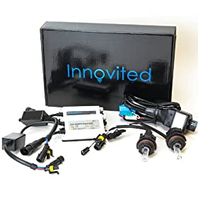 "Innovited AC 55W HID Xenon Conversion Kit With ""Slim"" ballast - 9004 9007 - 3000K Bi Xenon HI/LO HID - 2 Bulbs & 2 Ballasts"