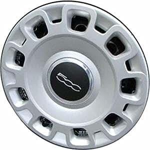 Amazon.com: NEW 2012-2014 Fiat 500 15 Inch Steel Wheel Silver Hub Cap