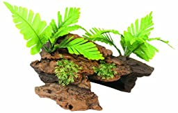 Marina Naturals Malaysian Driftwood with Plants, Medium