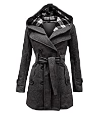 Geben Womens Winter Warm Dark Grey F…