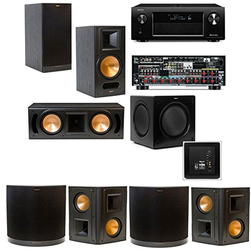 Klipsch Rb-81Ii 7.1 Home Theater System-Denon Avr-X4000 In-Command 7.2- Black