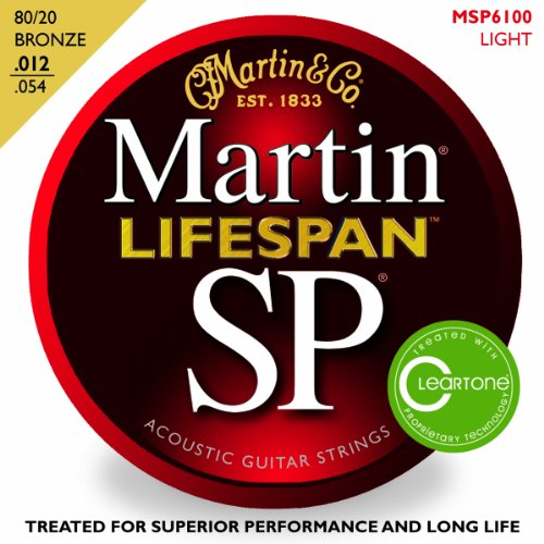 Martin 80/20 Bronze Lifespan Coated Acoustic Strings 12-54