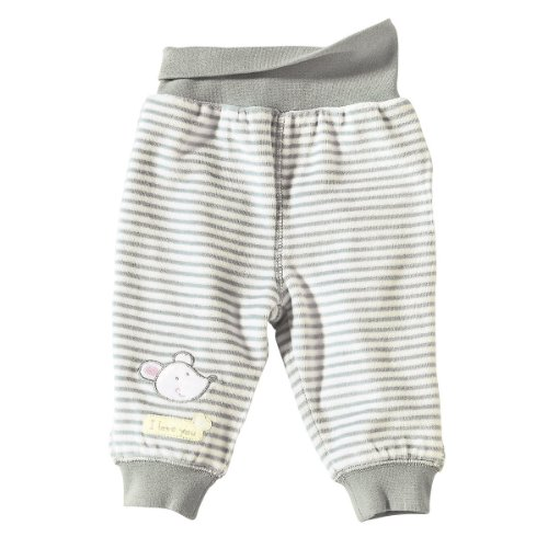 BORNINO Nicki-Hose Baby-Hose, Größe 74/80, grau