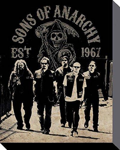 Sons Of Anarchy - SAMCRO Reaper Crew Stampa Su Tela (50 x 40cm)
