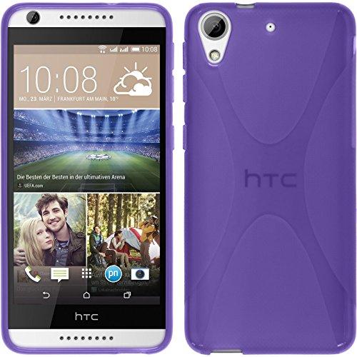 PhoneNatic HTC Desire 626 Hülle Silikon lila X-Style Case Desire 626 Tasche Case