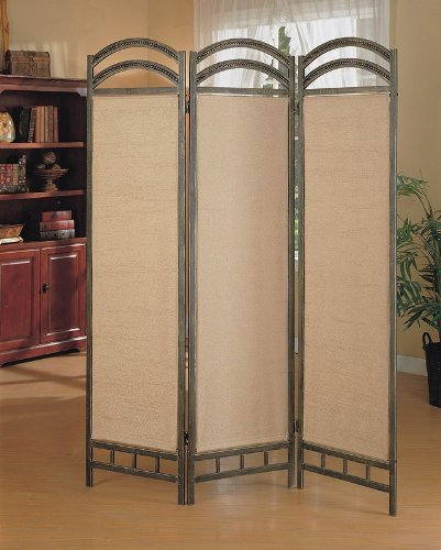Best Price Coaster 3-Panel Liquid Metal Folding Screen