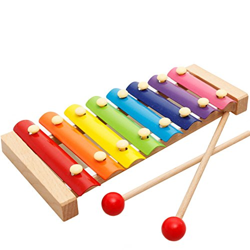 1-3 years old Baby Music Perception harp small Xylophone Eight Hand Knock toysP*