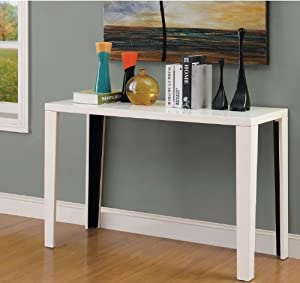 Euro modern white gloss lacquer console sofa for Modern white lacquer console table