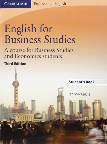 English for Business Studies Student's Book: A Course for...