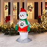 CHRISTMAS INFLATABLE 6 FT ANIMATED SNOW GIRL CHEERLEADER AIRBLOWN HOLIDAY YARD DECORATION