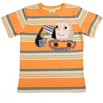 Amazon com 18m 6y kids wear cartoon clothing rooter applique striped