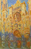 The Museum Outlet - Claude_Monet - Rouen Cathedral Facade at Sunset - Canvas Print Online Buy (30 X 40 Inch)
