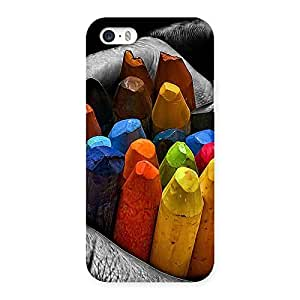 Delighted Multicolor Cryons Back Case Cover for iPhone 5 5S