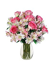 Blooms Today Dreams of Pink Bouquet With Vase - Small