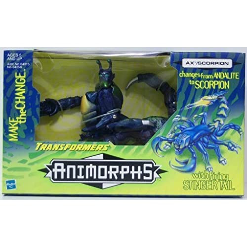 Transformers Animorphs Ax/Scorpion Action Figure 1998 by Hasbro (English Manual)