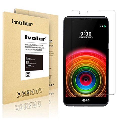 LG X Power Pellicola Protettiva, iVoler® Pellicola Protettiva in Vetro Temperato per LG X Power - Vetro con Durezza 9H, Spessore di 0,2 mm,Bordi Arrotondati da 2,5D-Shockproof, Trasparenza ad alta definizione, Facile da installare- Garanzia a vita