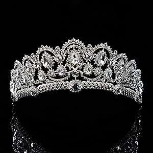 Topwedding Bridal Wedding Tiara Princess Crown Rhinestone Headpiece, Women