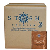 Stash Tea Holiday Chai Black Tea, 100 Count Box of Tea Bags in Foil