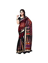 Firstloot Black Color Art Silk Party Wear Saree