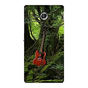 Ajay Enterprises Guitar and Tree Back Case Cover for Sony Xperia SP